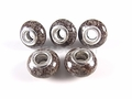 Brown Snowflake 8x14mm , 5mm Hole Pandora Beads with Silver Plated 1 pc.