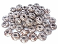 Brown Snowflake 8x14mm Gemstone Pandora Style Beads 2 pcs.