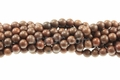 Brown Wood Agate 8mm Round Beads 15.5""