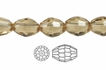 "Champagne Crystal Faceted 4x6mm Rice 72 Beads (Approx.17"")"