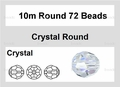 Clear Crystal 10mm Faceted Round Beads 72 pcs.