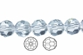 Clear Crystal 12mm Faceted Round Beads 40 pcs.