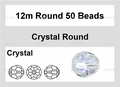 Clear Crystal 12mm Faceted Round Beads 50 pcs.