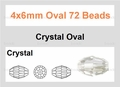 "Clear Crystal 4x6mm AB Faceted Rice 72 Beads (approx.17"")"