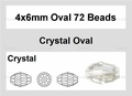 Clear Crystal 4x6mm Faceted Rice Beads 72 pcs.