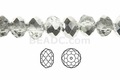 "Clear Crystal & Silver 4x3mm Faceted Rondelle Beads 150 beads (approx.18"")"