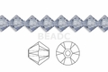 Clear Crystal 4mm Faceted Bicone Beads 120 pcs.