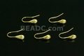 Copper 14k gold 5x17mm Plated Shell Earwire 10 pcs.