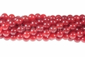 Coral Red Candy Jade 8mm Round Beads 16""