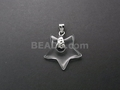 Crystal 22mm Star With Hole Pendant