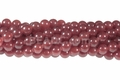 Dark Ruby Jade 8mm Round Beads 15.5""