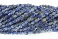 Denim Lapis 4x6mm Rice Beads 16""