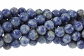 Denim Lapis 8mm Round Beads 16""
