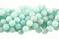 Dyed Amazonite 10mm Faceted Round Beads 16""