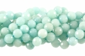 Dyed Amazonite 12mm Faceted Round Beads 16""
