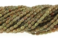 Epidot 4x6mm Rice Beads 16""