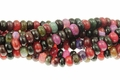 Fire Agate 10mm Faceted Rondelle Beads 16""