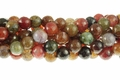 Fire Agate 12mm Faceted Round Beads 15.5""