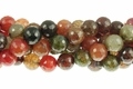 Fire Agate 14mm Faceted Round Beads 15.5""