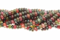 Fire Agate 8mm Faceted Rondelle Beads 16""