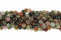 Fire Agate 8mm Faceted Round Beads 15.5""