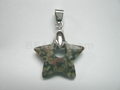 Fossil Jasper 20mm Star With Hole Pendant
