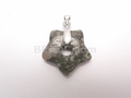 Fossil Jasper 25mm Star With Hole Pendant
