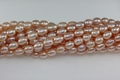 Freshwater Pearl Pink Color 6-7mm Rice Beads 15-16""
