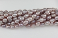 Freshwater Pearl Purple Color 7-8mm Rice Beads 15-16""