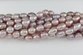 Freshwater Pearl Purple Color 8-9mm Rice Beads 15-16""