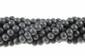 Frosted Black Onyx Obsidian 8mm Round Beads 16""