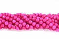 Fuchsia Candy Jade 8mm Faceted Round Beads 16""