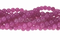 Fuchsia Candy Jade 8mm Round Beads 16""