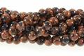 Fusion Goldstone 8mm Round Beads 15""