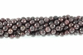 Garnet 8mm Faceted Round Beads 16""