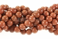 Goldstone 8mm Round Beads 15""