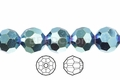 Greem AB Iris Crystal 12mm Faceted Round Beads 40 pcs.