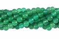 Green Agate 8mm Faceted Round Beads 16""
