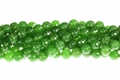Green B.C Color Jade 10mm Faceted Round Beads 15.5""