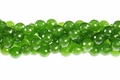 Green B.C Color Jade 12mm Faceted Round Beads 15.5""
