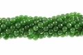 Green B.C Color Jade 8mm Faceted Round Beads 15.5""