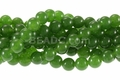 Green B.C. Color Jade 8mm Round Beads 16""