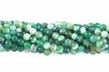 Green Banded Agate 8mm Faceted Round Beads 16""
