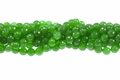Green Candy Jade 8mm Faceted Round Beads 16""