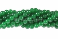 Green Candy Jade 8mm Round Beads 16""