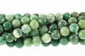 Green China Jade 8mm Round Beads 15.5""