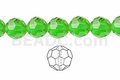 Green Crystal 8mm Faceted Round Beads 40 pcs.