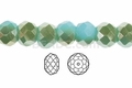 "Green Crystal & Silver 4x3mm Faceted Rondelle Beads 150 beads (approx.18"")"
