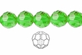 Green Emerald Crystal 10mm Faceted Round Beads 72 pcs.