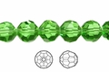 Green Emerald Crystal 12mm Faceted Round Beads 40 pcs.
